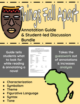 Things Fall Apart Annotation Guide and Student-led Discussion Bundle