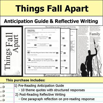 Things Fall Apart - Anticipation Guide & Reflection Writing