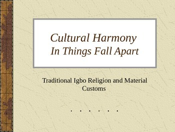 Things Fall Apart Background on Igbo Culture