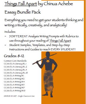 Things Fall Apart By Chinua Achebe Analytical Essay Bundle Pack