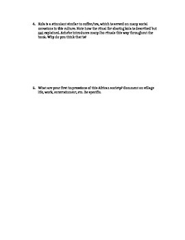 Things Fall Apart Chapter 1 Study Guide Questions