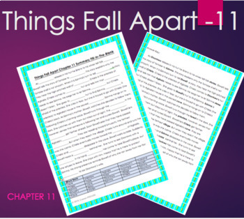 Things Fall Apart   Chapter 11 Fill In The Blank Summary With KEY   Achebe