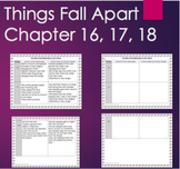 Things Fall Apart Chapter 16, 17, 18 Graphic Organizer