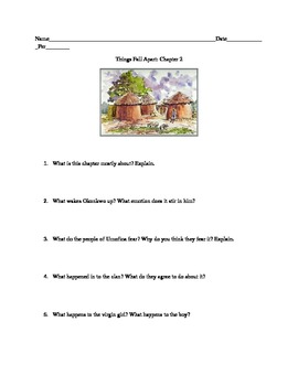 Things Fall Apart: Chapter 2 Questions and Activity