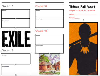 Things Fall Apart Brochure Part 2 Chap. 14, 15, 16, 17, 18,19 Project Assessment