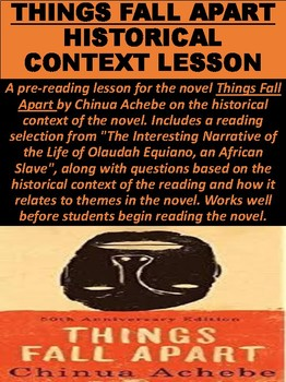 Things Fall Apart Historical Context Lesson