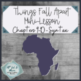 Things Fall Apart Mini-Lesson - Syntax