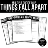 Things Fall Apart Multiple Choice Test and Answer Key Ch. 16-18