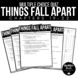 Things Fall Apart Multiple Choice Test and Answer Key Ch. 19-22