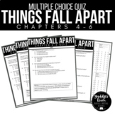 Things Fall Apart Multiple Choice Test and Answer Key Ch.