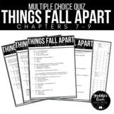 Things Fall Apart Multiple Choice Test and Answer Key Ch. 7-9