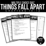 Things Fall Apart Multiple Choice Test and Answer Key Ch. 10-12