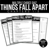 Things Fall Apart Multiple Choice and Answer Keys Ch. 1-3