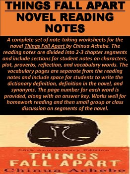 """Things Fall Apart"" Novel Reading Notes"