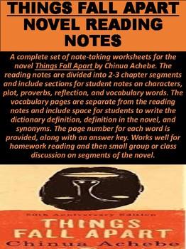"""""""Things Fall Apart"""" Novel Reading Notes"""