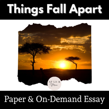 Things Fall Apart Paper & On-Demand Essay