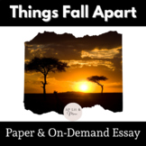 Things Fall Apart Literary Theory Paper and On-Demand Essay