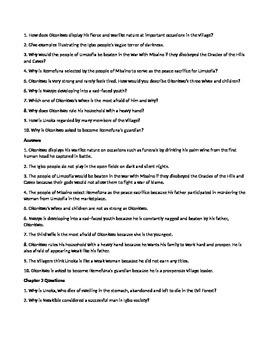 Things Fall Apart Part One Quiz