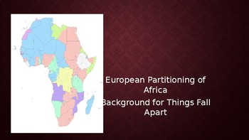 Things Fall Apart:  Partitioning of Africa