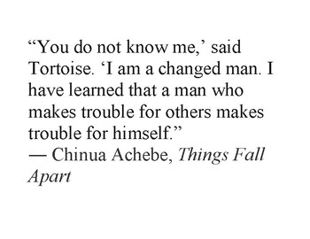 Things Fall Apart Quotes Poster