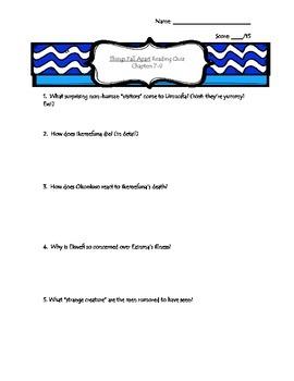 Things Fall Apart Reading Quiz Bundle