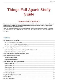 Things Fall Apart: Study Guide
