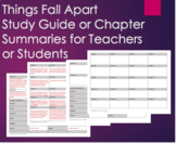 Things Fall Apart - Study Guide w/ Chapter Summaries and Key Vocab Chap. 1-25