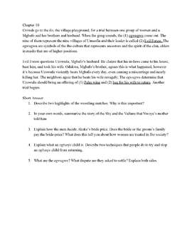 Things Fall Apart Summary Worksheets