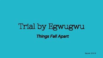 Things Fall Apart Trial by Egwugwu Activity