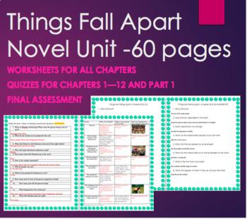 Things Fall Apart Unit Plan Bundle
