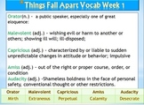 Things Fall Apart Vocabulary Pack