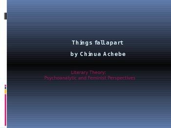 Things Fall Apart and Literary Theory