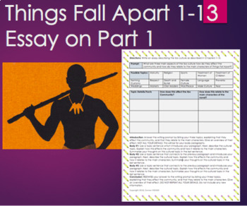 Things Fall Apart By Chinua Achebe Part Chapter Writing Essay  Things Fall Apart By Chinua Achebe Part Chapter Writing Essay Quiz