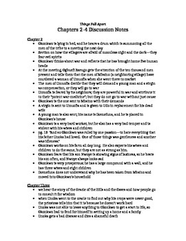 Things Fall Apart, chapter 2-4 notes