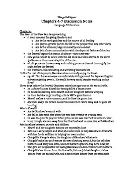Things Fall Apart, chapter 5-7 notes