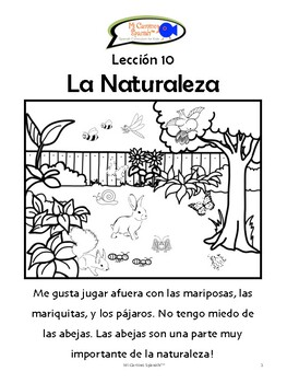 Things Found in Nature - Spanish! (10 fun worksheets!)
