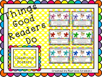 Things Good Readers Do-Classroom Posters