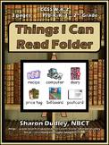 """""""Things I Can Read"""" Writing Folder"""