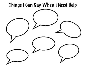 Things I Can Say When I Need Help