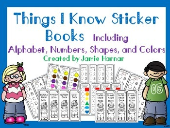 Things I Know Progress Sticker Books - Alphabet, Numbers,