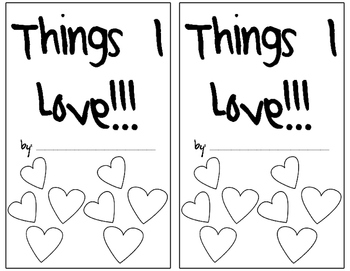Things I LOVE Book!