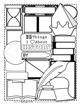 Things I Learned Posters Printable Coloring Posters