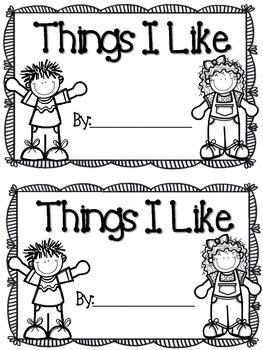 Things I Like --  Sight Word Reader