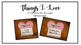 Things I Love (A Valentine's Day Craftivity)