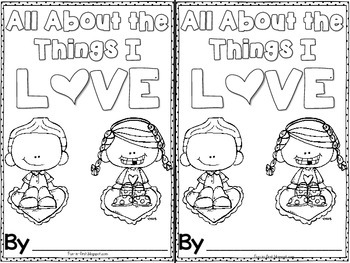 Things I Love Booklet