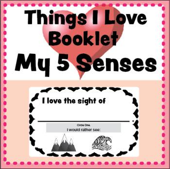 Things I Love Booklet: 5 Senses