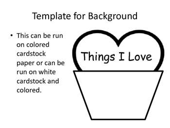 Things I Love Cupcake Art & Writing Activity - Valentine's Day