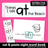 "Interactive Sight Word Reader ""Things I See at the Beach"""