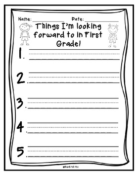 Things I am Looking Forward to in 1st/2nd Grade