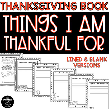 Things I am Thankful For Book